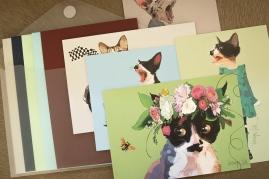 5 art prints, 5 enveloppen + 1 luxe bewaarenvelop